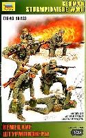 ズベズダ1/35 ミリタリードイツ 戦闘工兵 フィギュアセット (6体入)