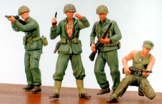 WW2 アメリカ海兵隊 (フィギュア4体セット)プラモデル(ファインモールド1/35 ミリタリーNo.360155)商品画像_1