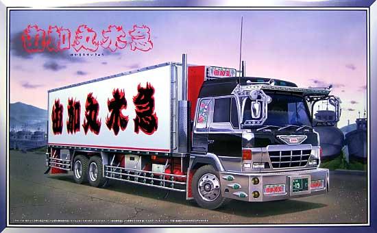 椎名急送 由加丸水急 (ロングシャーシ)プラモデル(アオシマ1/32 大型デコトラNo.083)商品画像