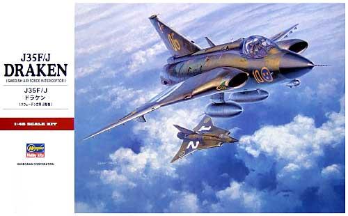 J35F/J ドラケン (スウェーデン空軍 迎撃機)プラモデル(ハセガワ1/48 飛行機 PTシリーズNo.PT041)商品画像