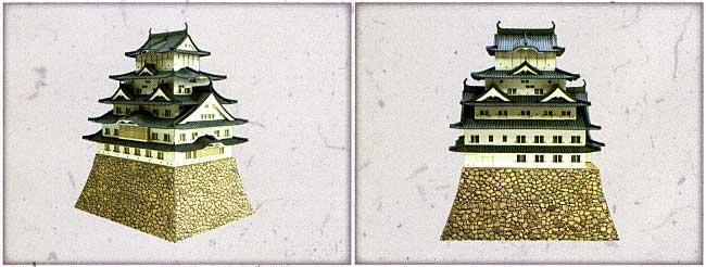 姫路城ペーパークラフト(さんけいみにちゅああーと キット 名城シリーズNo.MIKM004-01)商品画像_1