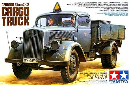 ドイツ 3トン 4×2 カーゴトラックプラモデル(タミヤ1/35 ミリタリーミニチュアシリーズNo.291)商品画像