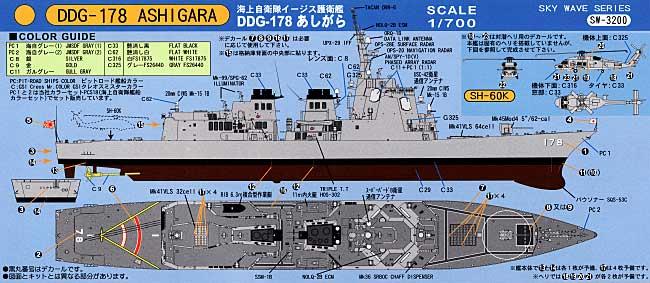海上自衛隊イージス護衛艦 DDG-178 あしがら (2008年型)プラモデル(ピットロード1/700 スカイウェーブ J シリーズNo.J-035)商品画像_2
