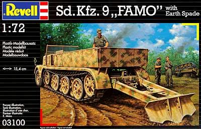 Sdkfz.9 FAMO with Earth Spadeプラモデル(レベル1/72 ミリタリーNo.03100)商品画像
