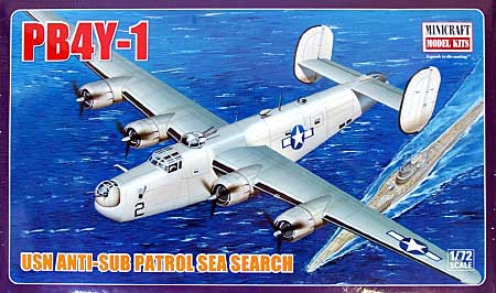 PB4Y-1 米海軍 対潜哨戒機 シーサーチプラモデル(ミニクラフト1/72 航空機プラスチックモデルキットNo.11633)商品画像