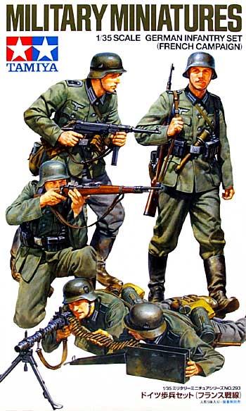 ドイツ歩兵セット (フランス戦線)プラモデル(タミヤ1/35 ミリタリーミニチュアシリーズNo.293)商品画像