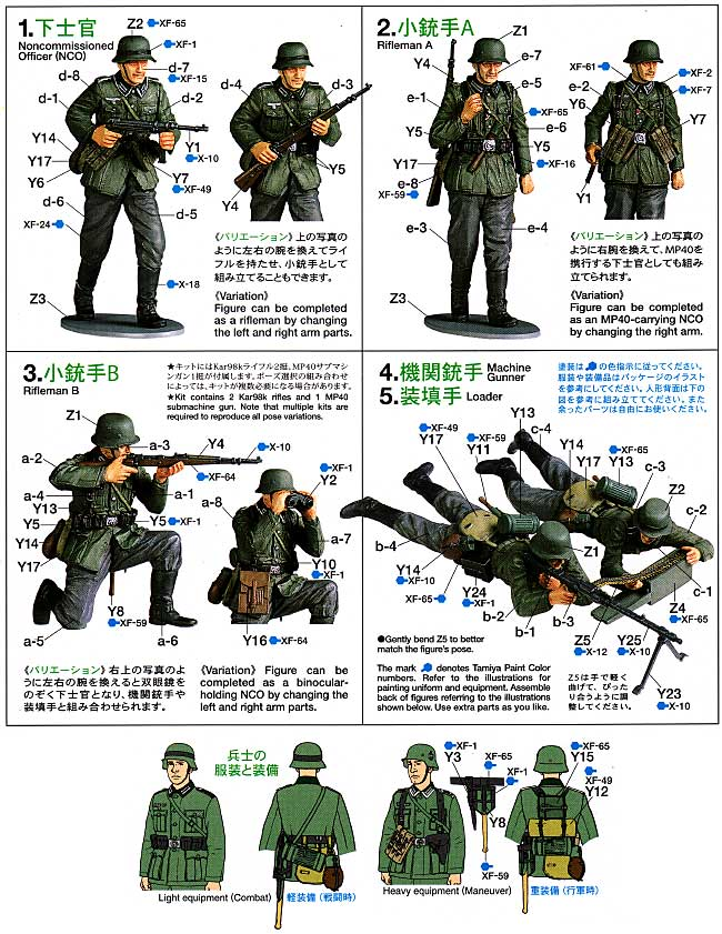 ドイツ歩兵セット (フランス戦線)プラモデル(タミヤ1/35 ミリタリーミニチュアシリーズNo.293)商品画像_1