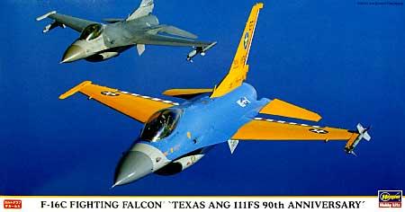 F-16C ファイティングファルコン テキサスANG 111FS 90周年スペシャルプラモデル(ハセガワ1/48 飛行機 限定生産No.09811)商品画像