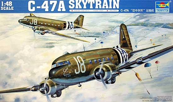C-47A スカイトレインプラモデル(トランペッター1/48 エアクラフト プラモデルNo.02828)商品画像