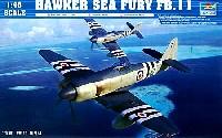 トランペッター1/48 エアクラフト プラモデルホーカー シーフューリー FB.11