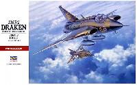 ハセガワ1/48 飛行機 PTシリーズJ35F/J ドラケン (スウェーデン空軍 迎撃機)
