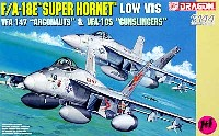 ドラゴン1/144 ウォーバーズ (プラキット)F/A-18E スーパーホーネット VFA-105 ガンスリンガーズ & VFA-147 アルゴノーツ (2機セット)