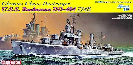 グリーブス級駆逐艦 U.S.S. ブキャナン DD-484 1942年プラモデル(ドラゴン1/350 Modern Sea Power SeriesNo.1021)商品画像