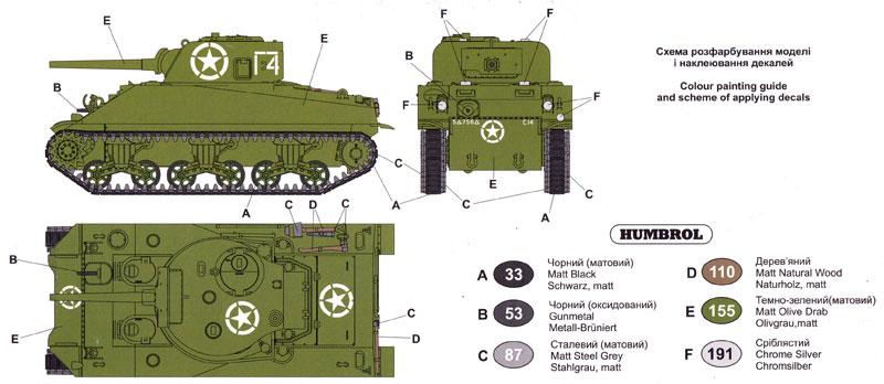 アメリカ M4シャーマン 初期型 (75mm) 溶接車体プラモデル(ユニモデル1/72 AFVキットNo.370)商品画像_1