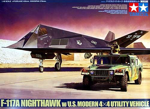F-117A ナイトホーク・多用途装輪車セットプラモデル(タミヤ1/48 飛行機 スケール限定品No.89773)商品画像
