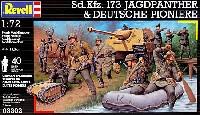レベル1/72 ミリタリーSd.Kfz.173 ヤクトパンサー & ドイツ兵