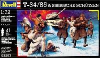 レベル1/72 ミリタリーT-34/85 & ソビエト兵