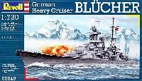 レベル1/720 艦船モデルドイツ海軍 重巡洋艦 ブルッヒャー