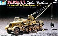 トランペッター1/72 AFVシリーズSd.Kfz.9/1 18t ハーフトラック 初期型 /クレーン