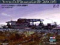 ホビーボス1/72 ファイティングビークル シリーズドイツ自走臼砲 カール用 鉄道運搬車