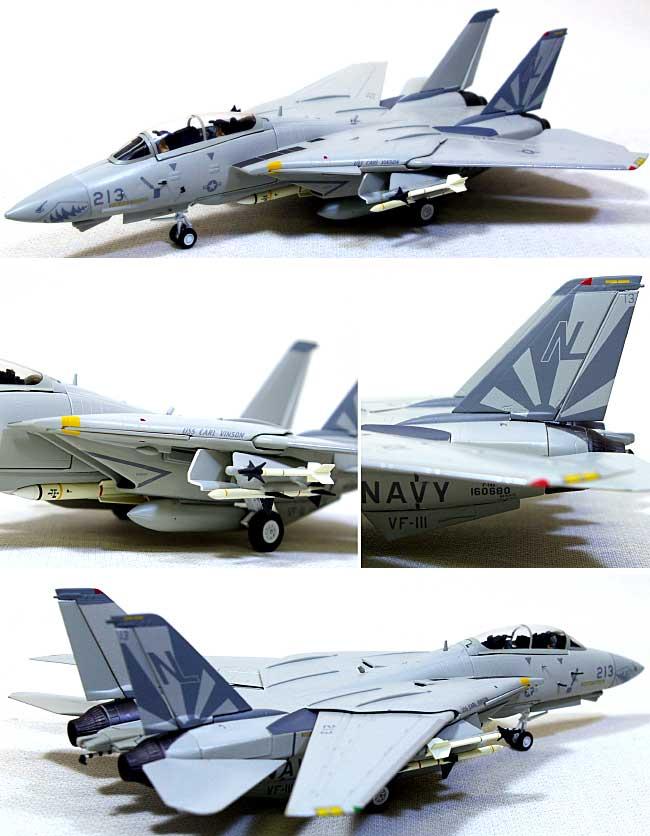 F-14D トムキャット VF-111 サンダウナーズ ロービジ完成品(ウイッティ・ウイングス1/72 スカイ ガーディアン シリーズ (現用機)No.74307)商品画像_1