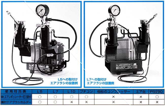 Mr.エアーレギュレーター 4 圧力計付 (Mr.リニアコンプレッサーL5・L7用 直付ホルダータイプ)レギュレーター(GSIクレオスエアブラシ アクセサリーNo.PS234)商品画像_1