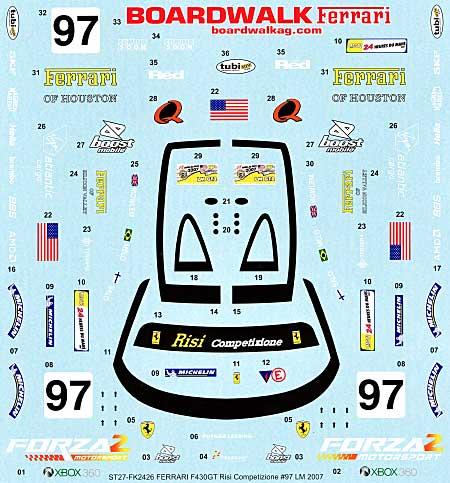 フェラーリ F430GT Risi Competizione #97 ル・マン 2007年 スペアデカールデカール(スタジオ27ツーリングカー/GTカー オリジナルデカールNo.SDFR2426)商品画像