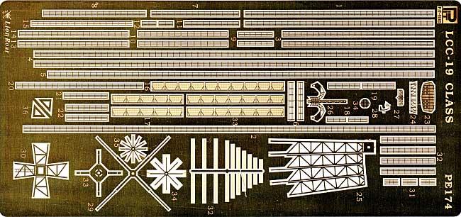米海軍 揚陸指揮艦 ブルーリッジ級用 エッチングパーツエッチング(ピットロード1/700 エッチングパーツシリーズNo.PE-174)商品画像_1
