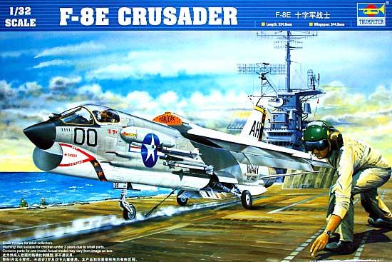F-8E クルセイダープラモデル(トランペッター1/32 エアクラフトシリーズNo.02272)商品画像