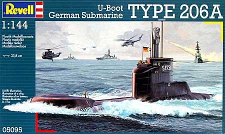 Uボート タイプ 206Aプラモデル(レベル1/144 艦船モデルNo.05095)商品画像
