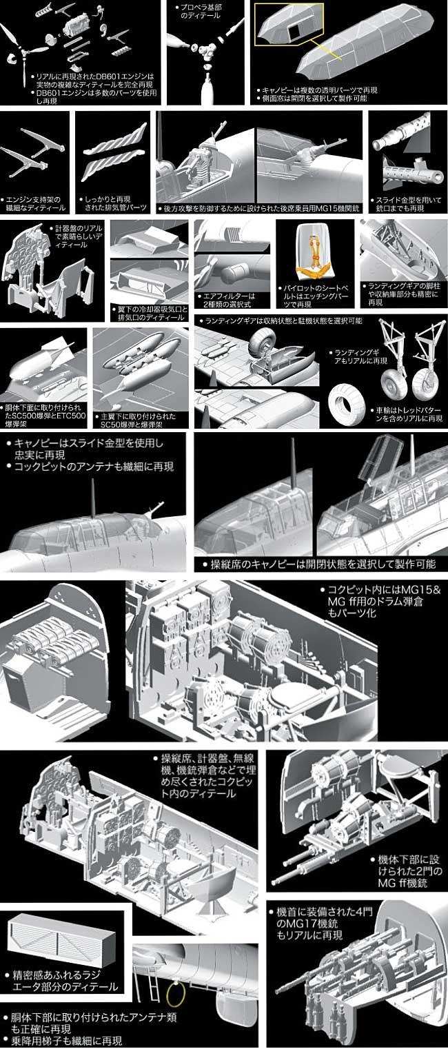 メッサーシュミット Bf110 C-7プラモデル(サイバーホビー1/32 ウイングテック シリーズNo.3203)商品画像_2