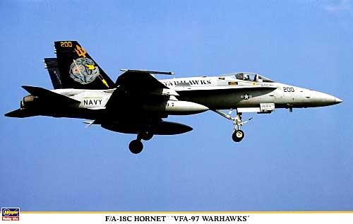 F/A-18C ホーネット VFA-97 ウォーホークスプラモデル(ハセガワ1/48 飛行機 限定生産No.09829)商品画像
