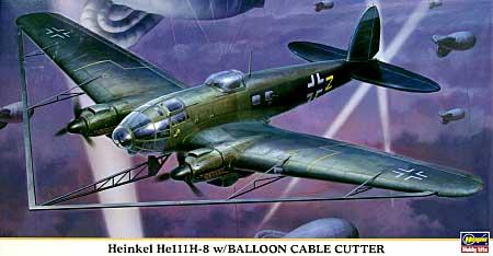 ハインケル He111H-8 w/バルーン ケーブルカッタープラモデル(ハセガワ1/72 飛行機 限定生産No.00929)商品画像
