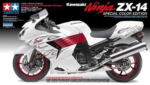 カワサキ Ninja ZX-14 スペシャルカラーエディションプラモデル(タミヤ1/12 オートバイシリーズNo.112)商品画像