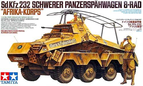 ドイツ 8輪重装甲車 Sd.Kfz.232 アフリカ軍団プラモデル(タミヤ1/35 ミリタリーミニチュアシリーズNo.297)商品画像
