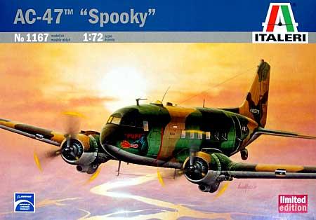 ダグラス AC-47 スプーキープラモデル(イタレリ1/72 航空機シリーズNo.1167)商品画像