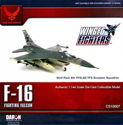 F-16C ファイティング ファルコン ウルフパック 8th TWF 80 TFS スコーピオン スコードロン完成品(ダロンウイングド ファイターズNo.CS10007)商品画像