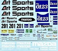 MZデカールミニッツレーサー対応 オリジナルデカールマツダ 787 Art Sports ル・マン 1990年 デカール