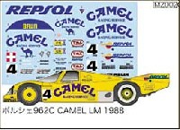 MZデカールミニッツレーサー対応 オリジナルデカールポルシェ 962C CAMEL LM1988