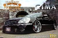 アオシマ1/24 スーパー VIP カーモードパルファム F50 シーマ 前期型