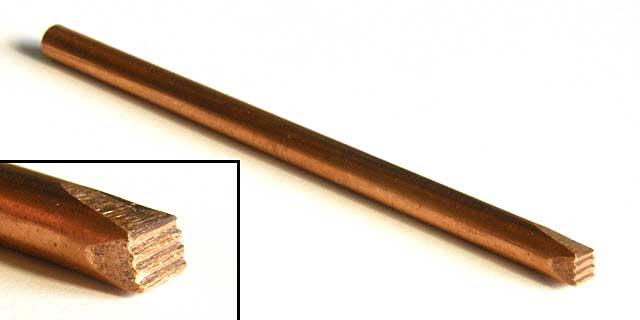 溶接跡 0.75mm 4枚刃ビット (1/35 ツィメリットコーティング用)ビット(ブレインファクトリーヒートペン用 オプションビットNo.B323)商品画像_1
