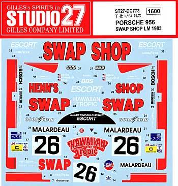 ポルシェ 956 SWAP SHOP  ル・マン 1984デカール(スタジオ27ツーリングカー/GTカー オリジナルデカールNo.DC773)商品画像