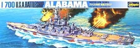 アメリカ海軍 戦艦 アラバマプラモデル(ハセガワ1/700 ウォーターラインシリーズNo.608)商品画像