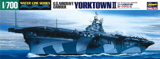 アメリカ航空母艦 ヨークタウン 2プラモデル(ハセガワ1/700 ウォーターラインシリーズNo.709)商品画像