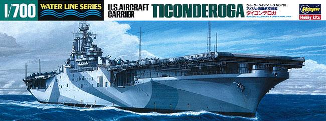 アメリカ航空母艦 タイコンデロガプラモデル(ハセガワ1/700 ウォーターラインシリーズNo.710)商品画像