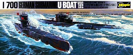 ドイツ潜水艦 Uボート 7型C / 9型Cプラモデル(ハセガワ1/700 ウォーターラインシリーズNo.901)商品画像