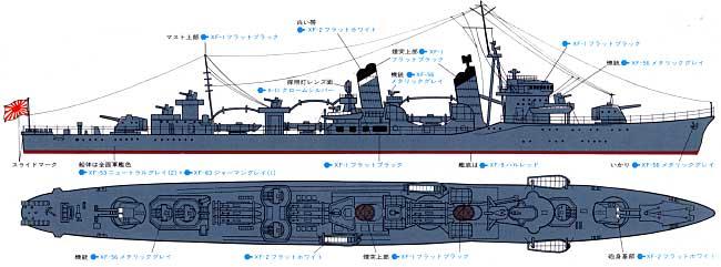 日本駆逐艦 初雪プラモデル(タミヤ1/700 ウォーターラインシリーズNo.404)商品画像_1