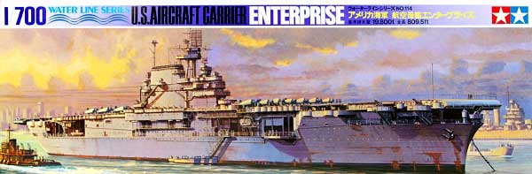 アメリカ海軍 航空母艦 エンタープライズプラモデル(タミヤ1/700 ウォーターラインシリーズNo.114)商品画像