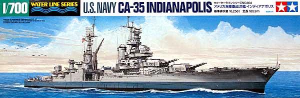 アメリカ海軍 重巡洋艦 インディアナポリスプラモデル(タミヤ1/700 ウォーターラインシリーズNo.804)商品画像