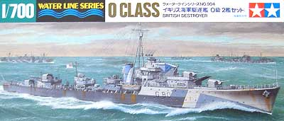 イギリス海軍駆逐艦 O級 (2艦セット)プラモデル(タミヤ1/700 ウォーターラインシリーズNo.904)商品画像